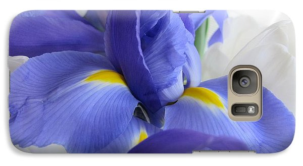 Galaxy Case featuring the photograph Iris Bloom by Arlene Carmel