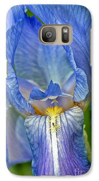 Galaxy Case featuring the photograph Iris by Larry Carr
