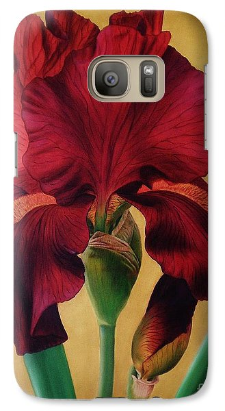 Galaxy Case featuring the painting Iris by Paula L