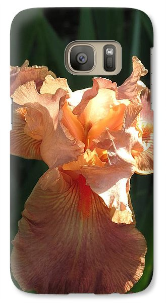 Galaxy Case featuring the photograph Iris Peach by Rebecca Overton