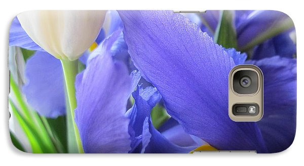 Galaxy Case featuring the photograph Iris Petal by Arlene Carmel