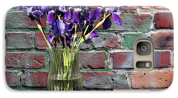 Galaxy Case featuring the photograph Iris Vase by Rick Friedle