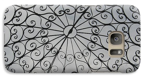 Galaxy Case featuring the photograph Iron Webbing by Nancy Dole McGuigan