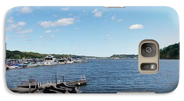 Galaxy Case featuring the photograph Irondequoit Bay Panorama by William Norton