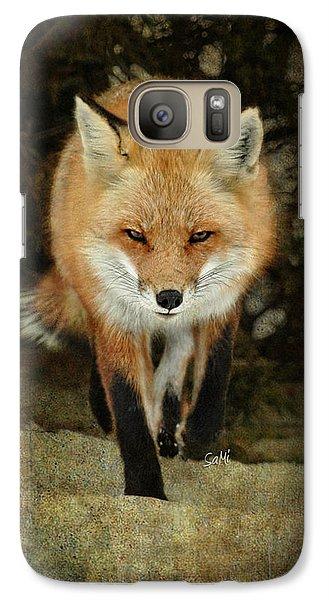 Galaxy Case featuring the photograph Island Beach Fox by Sami Martin