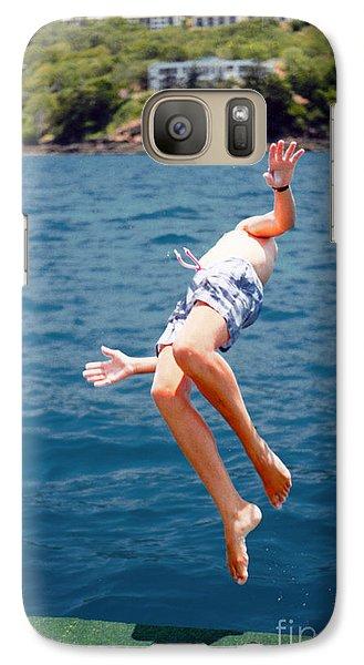 Galaxy Case featuring the photograph Island Hopping Boy by Vicki Ferrari