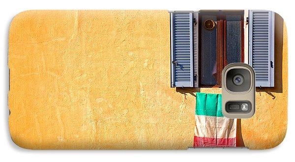 Italian Flag Window And Yellow Wall Galaxy S7 Case