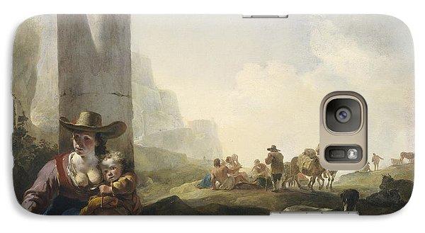 Italian Peasants Among Ruins Galaxy Case by Jan Weenix