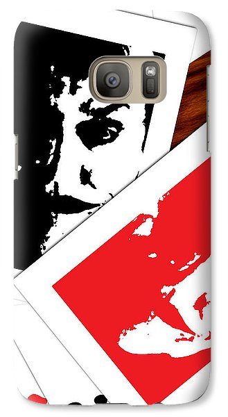 Galaxy Case featuring the digital art Jack Nicholson - The Joker's Crooked Card Game by Saad Hasnain