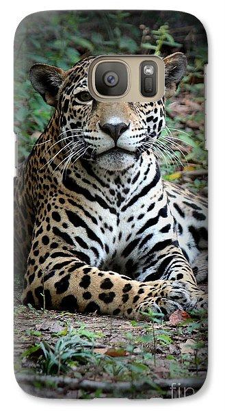 Galaxy Case featuring the photograph Jaguar Portrait by Kathy  White