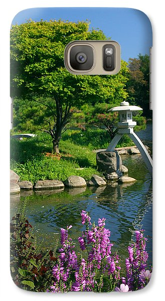 Galaxy Case featuring the photograph Japanese Garden by Cindy Haggerty