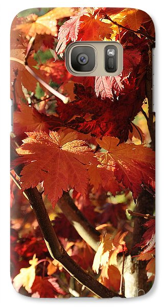 Galaxy Case featuring the photograph Japanese Maple 1 by Tanya  Searcy