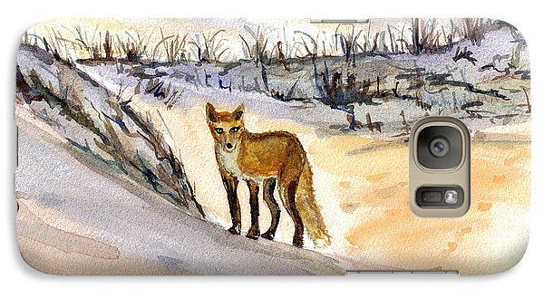 Galaxy Case featuring the painting Jersey Shore Fox by Clara Sue Beym