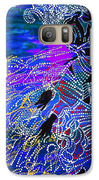 Galaxy Case featuring the painting Jesus Reaps His Harvest by Gloria Ssali