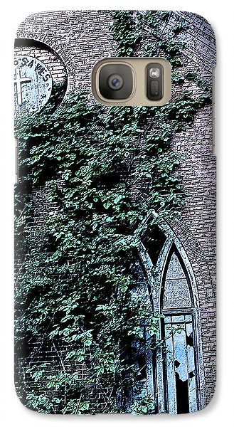 Galaxy Case featuring the photograph Jesus Saves...just Not This Church by John Crothers