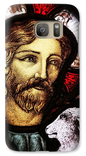 Galaxy Case featuring the photograph Jesus The Good Shepard by Verena Matthew