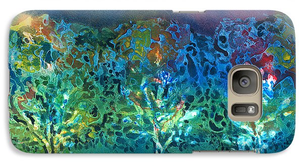 Galaxy Case featuring the mixed media Jeweled Trees by Arline Wagner