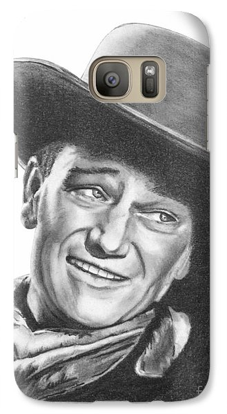 Galaxy Case featuring the drawing John Wayne   Dreamer by Marianne NANA Betts