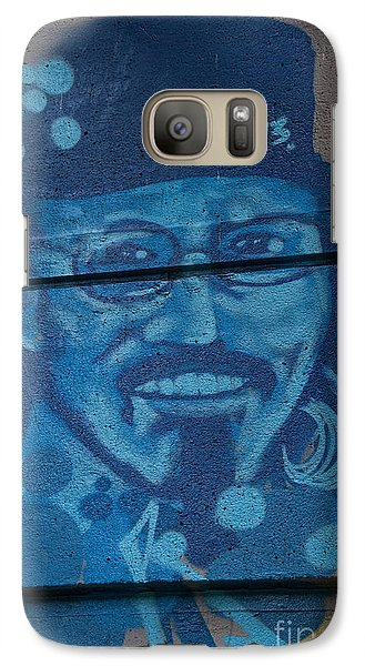 Galaxy Case featuring the digital art Johnny On The Wall by Carol Ailles