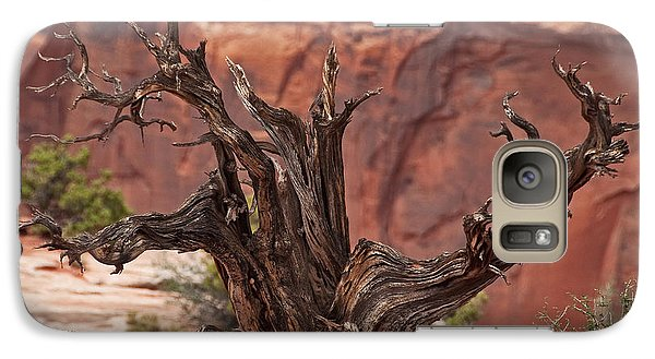 Galaxy Case featuring the photograph Juniper At Canyonlands by Bob and Nancy Kendrick