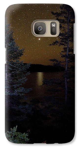 Galaxy Case featuring the photograph Jupiter Rising Over Otter Point by Brent L Ander