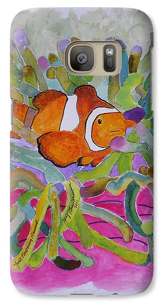 Galaxy Case featuring the mixed media Just Clowing Around by Joy Braverman