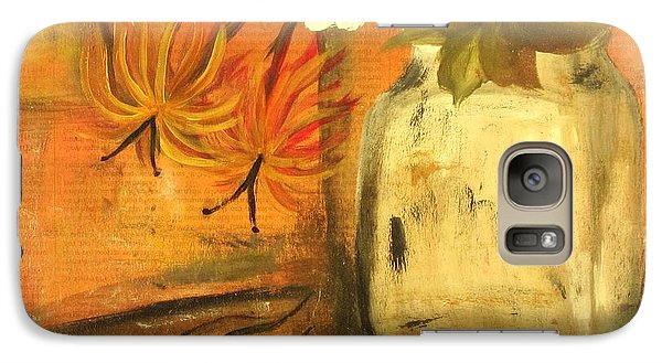Galaxy Case featuring the painting Just Enough by Kathy Sheeran