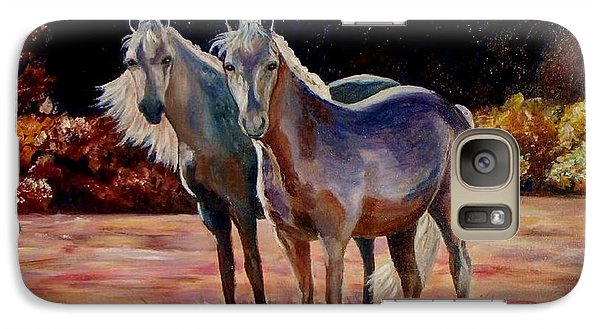 Galaxy Case featuring the painting Just Who Are You by Julie Brugh Riffey