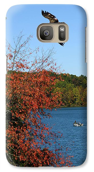 Galaxy Case featuring the photograph Juvenile And Fishermen by Randall Branham