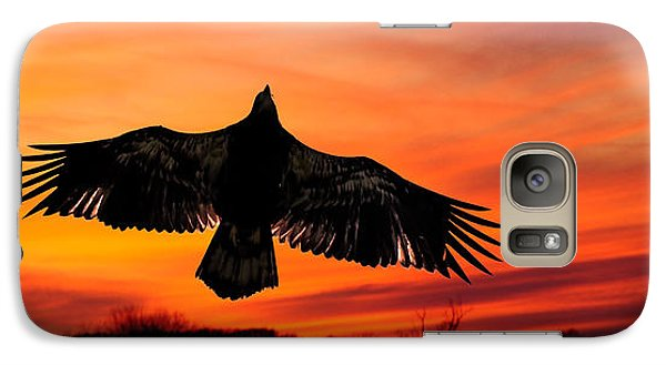 Galaxy Case featuring the photograph Juvenile Sunset  by Randall Branham