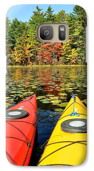 Galaxy Case featuring the photograph Kayaks In The Fall by Rick Frost