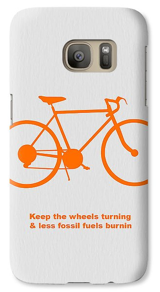 Bicycle Galaxy S7 Case - Keep The Wheels Turning by Naxart Studio