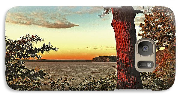 Galaxy Case featuring the photograph Kentucky Lake Sunrise by William Fields