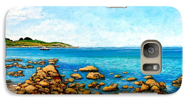 Galaxy Case featuring the painting Kettle Cove by Tom Roderick