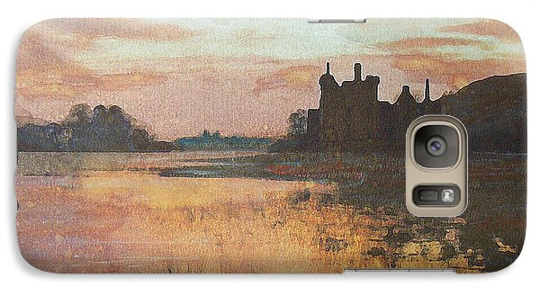 Galaxy Case featuring the painting Kilchurn Castle Scotland by Richard James Digance