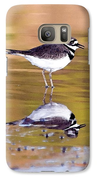 Killdeer Reflection Galaxy S7 Case by Betty LaRue