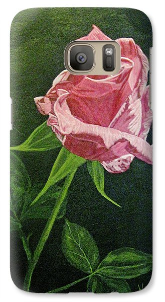Galaxy Case featuring the painting Kiss Of The Morning Sun 2 by Wendy Shoults