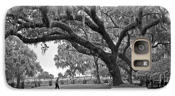 Galaxy Case featuring the photograph 1860 Kissimee Cow Camp  4  Bw by Larry Nieland