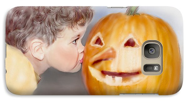 Galaxy Case featuring the painting Kissy Face by Bonnie Willis