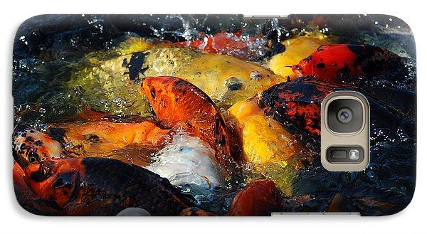 Galaxy Case featuring the photograph Koi Fish by Eva Kaufman