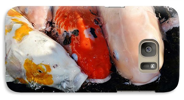 Galaxy Case featuring the photograph Koi Fish by Werner Lehmann
