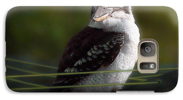 Galaxy Case featuring the photograph Kookaburra Hoists On The Hills by Vicki Ferrari