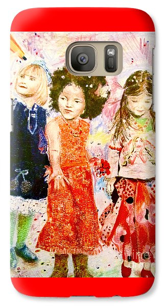 Galaxy Case featuring the drawing La Fete by Beth Saffer