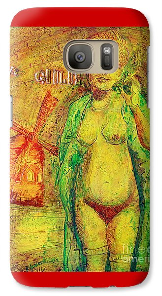 Galaxy Case featuring the painting La Goulue by D Renee Wilson