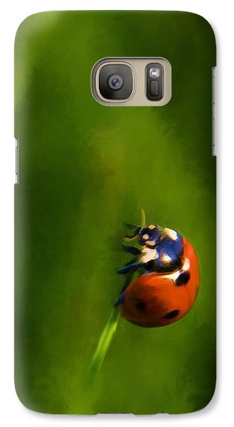 Galaxy Case featuring the painting Lady In Red by Steven Richardson
