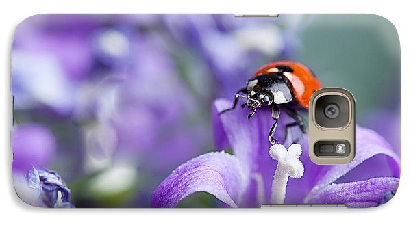 Ladybug And Bellflowers Galaxy Case by Nailia Schwarz