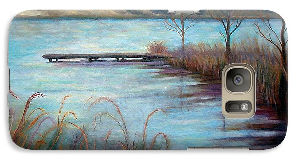 Galaxy Case featuring the painting Lake Acworth Dock by Gretchen Allen