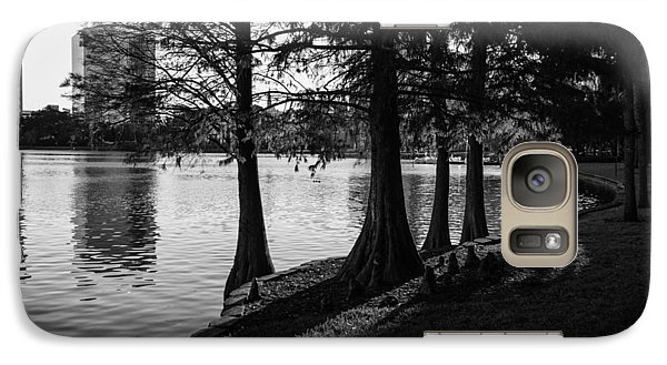 Galaxy Case featuring the photograph Lake Eola Water Edge by Lynn Palmer