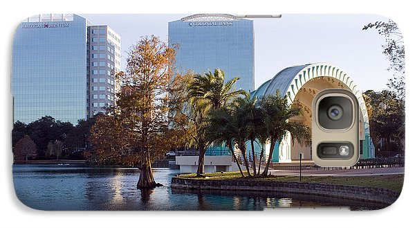 Galaxy Case featuring the photograph Lake Eola's  Classical Revival Amphitheater by Lynn Palmer