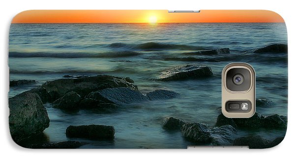 Galaxy Case featuring the photograph Lake Erie Sunset by Cindy Haggerty